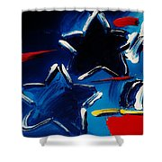 Max Two Stars Shower Curtain
