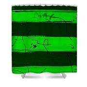 Max Woman In Green Shower Curtain