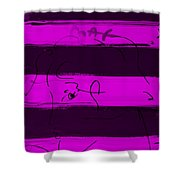 Max Woman In Purple Shower Curtain