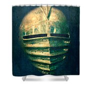 Maximilian Knights Armour Helmet Shower Curtain