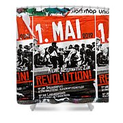 May Day 2012 Poster Calling For Revolution Shower Curtain