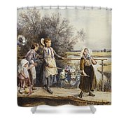 May Day Garlands Shower Curtain