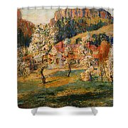 May In The Mountains Shower Curtain