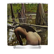 May Morning Arkansas River  2 Shower Curtain