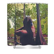 May Morning Arkansas River 5 Shower Curtain by Thu Nguyen