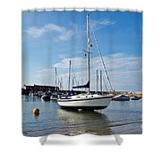 May Morning - Lyme Regis Shower Curtain