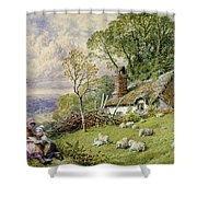 May Time Shower Curtain