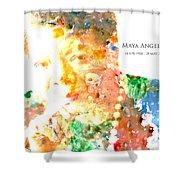 Maya Angelou 1 Shower Curtain