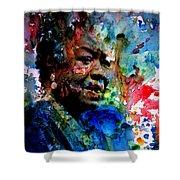 Maya Angelou Paint Splash Shower Curtain
