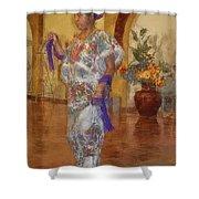 Maya Woman-mexico V2 Shower Curtain