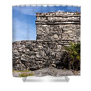 Mayan Building At Tulum Shower Curtain