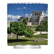Mayan Ruins - Tulum Shower Curtain