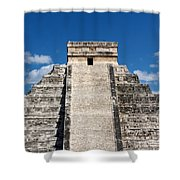 Mayan Temple Pyramid At Chichen Itza Shower Curtain