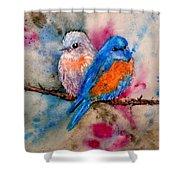 Maybe She's A Bluebird Shower Curtain