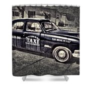 Mayberry Taxi Shower Curtain