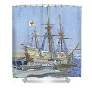 Mayflower At Birth Shower Curtain