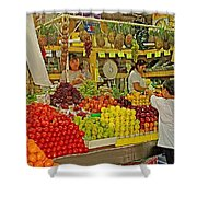 Mazatlan Centro Market-sinaloa Shower Curtain
