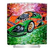 Mazda 787b.1991 Le Mans Winner. Shower Curtain