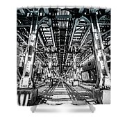 Maze Of Iron - Black And White Shower Curtain