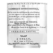 Mazzei Title Page 1788 Shower Curtain