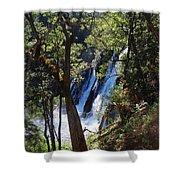 Mcarthur-burney Falls Side View Shower Curtain