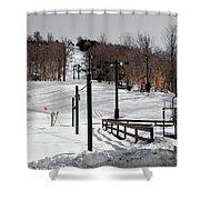 Mccauley Mountain Ski Area Vi- Old Forge New York Shower Curtain