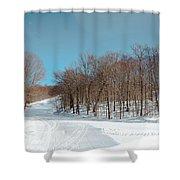 Mccauley Mountain Ski Area Vii- Old Forge New York Shower Curtain