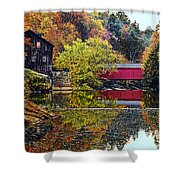 Mcconnell's Mill And Covered Bridge Shower Curtain