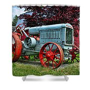Mccormick Deering Red-wheeled Tractor Shower Curtain