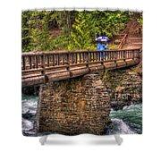 Mcdonald Creek Bridge Shower Curtain