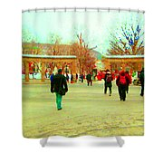 Mcgill Univ Students And Faculty College Campus Montreal Memories Collectible Art Prints C Spandau Shower Curtain