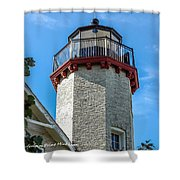 Mcgulpin Point Lighthouse Michigan Shower Curtain