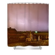 Mcintosh Farm Lightning Thunderstorm View Shower Curtain