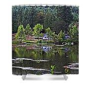Mcintosh Lake In Washington Shower Curtain