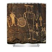 Mckee Ranch Petroglyphs Shower Curtain