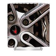 Mclaren Wheel Emblem Shower Curtain