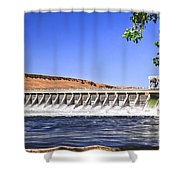 Mcnary  Hydroelectric Dam Shower Curtain by Robert Bales