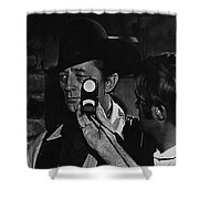 Mcq And Rooster Cogburn Homage Robert Mitchum And Harry Stradling Jr Shower Curtain