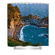 Mcway Waterfall. Big Sur Shower Curtain