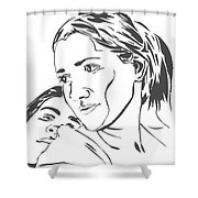 Me And Sarah Shower Curtain