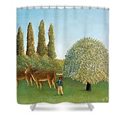 Meadowland. The Pasture  Shower Curtain