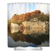 Mead's Quarry In Autumn Shower Curtain