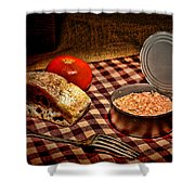 Meager Lunch Shower Curtain