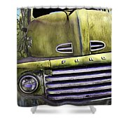 Mean Green Ford Truck Shower Curtain