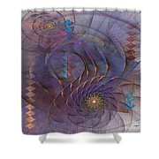 Meandering Acquiescence - Square Version Shower Curtain