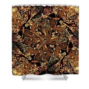 Meandering Pattern Shower Curtain