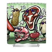 Meats Protein Food Group Shower Curtain