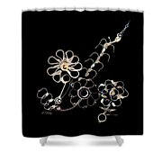 Mechanical Flowers Shower Curtain