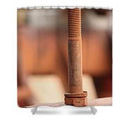 Mechanical Perspective Shower Curtain
