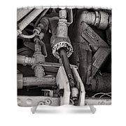 Mechanicals Bw Shower Curtain